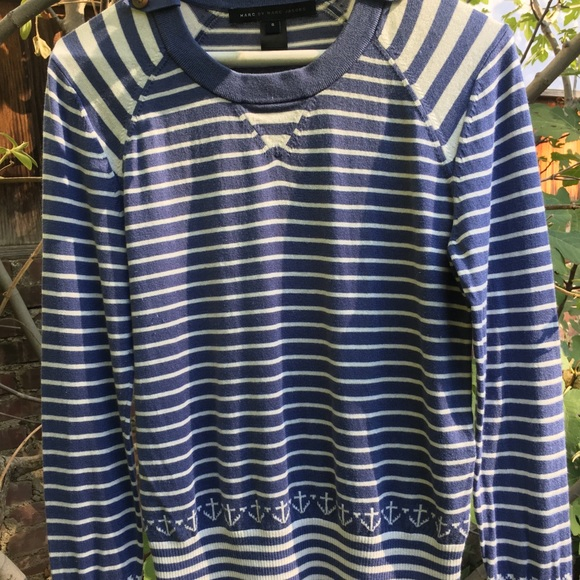 Marc By Marc Jacobs Tops - Marc Jacobs blue and white top size small
